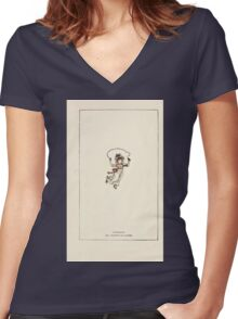 Mother Goose or the Old Nursery Rhymes by Kate Greenaway 1881 0004 Copyright Page Women's Fitted V-Neck T-Shirt