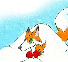 Den in a Snowpile by KOKeefeArt