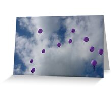 Purple Protest: Votes In The Sky Greeting Card