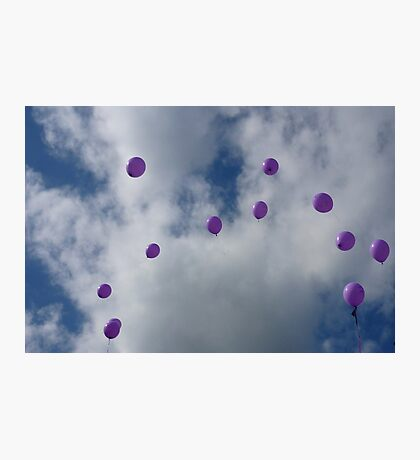 Purple Protest: Votes In The Sky Photographic Print