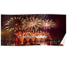 Fireworks over the Charles River.  Poster
