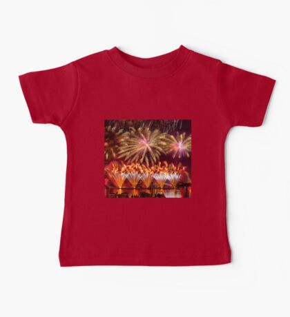 Fireworks over the Charles River.  Baby Tee