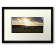 Day's End on The 18th Green Framed Print