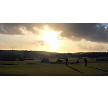 Day's End on The 18th Green Photographic Print
