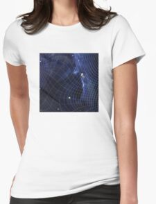 Riding the Wave in Warp Drive Womens Fitted T-Shirt