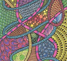 Rainbow Tangle by KatieMaryMac