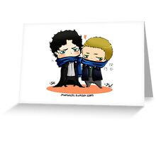 CHIBIBATCH - Johnlock  Greeting Card