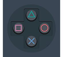 PlayStation Controller Buttons Photographic Print