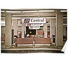 Brisbane Central train  station Poster