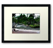 An Ocean in the Garden Framed Print