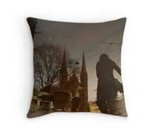 Reflections of Amsterdam - Funky Chairs Throw Pillow