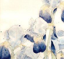 Graceful Iris - Flowing Watercolor by ArtByDrax
