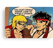 Street Fighter II Pop Art Ryu Ken Comic Shenglong Canvas Print