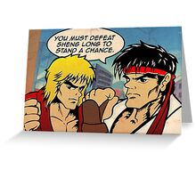 Street Fighter II Pop Art Ryu Ken Comic Shenglong Greeting Card