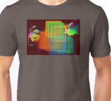 Computer Generated Abstract Squares Fractal Flame Unisex T-Shirt