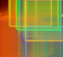 Computer Generated Abstract Squares Fractal Flame Sticker