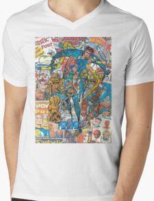 Vintage Comic Fantastic Four Mens V-Neck T-Shirt