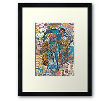 Vintage Comic Fantastic Four Framed Print