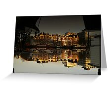 Reflections of Amsterdam - House Boats Greeting Card