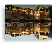 Reflections of Amsterdam - Double Vision Canvas Print