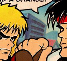 Street Fighter II Pop Art Ryu Ken Comic Shenglong Sticker