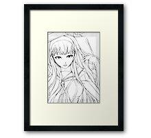 yukiko sketch Framed Print