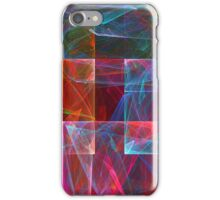 Abstract Checkered Pattern Fractal Flame iPhone Case/Skin