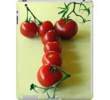 T is for TOMATOES! iPad Case/Skin