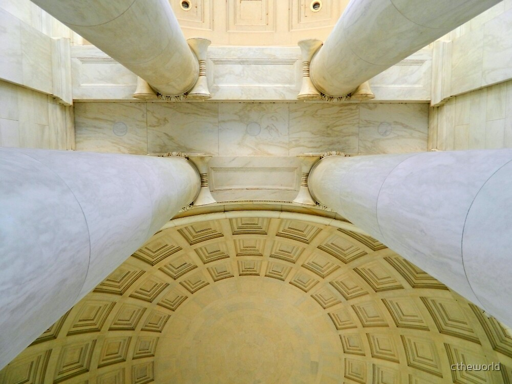 Looking Up - inside the Jefferson Memorial   ^ by ctheworld