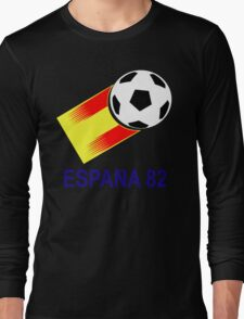 A Casual Classic iconic Espana 82 inspired t-shirt design  Long Sleeve T-Shirt
