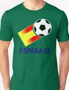 A Casual Classic iconic Espana 82 inspired t-shirt design  Unisex T-Shirt