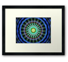 Blue Green Spheres Framed Print