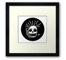 Smoking Skull Framed Print