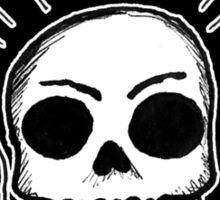 Smoking Skull Sticker