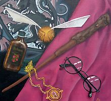 A Wizard's Tools by davidjonesart