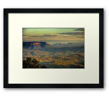 Valley Of Light - Kanimbla Valley  Blue Mountains - The HDR Experience Framed Print