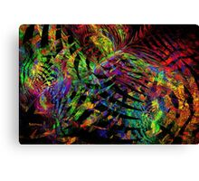 Colorful Psychedelic Abstract Fractal Art Canvas Print