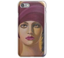 LADY WITH FEATHERS IN HER HAT iPhone Case/Skin