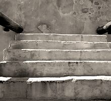 Steps at Tumacacori by AsEyeSee