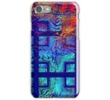 Abstract Blue Psychedelic Tiled Fractal Flame iPhone Case/Skin