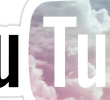Pastel Sky YouTube Logo Sticker