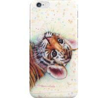 Tiger Cub Watercolor Art iPhone Case/Skin