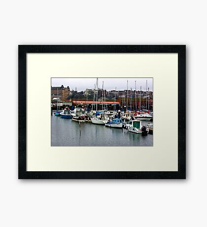 Boats - Scarborough Harbour Framed Print