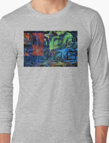 Colorful Psychedelic Abstract Fractal Art Long Sleeve T-Shirt