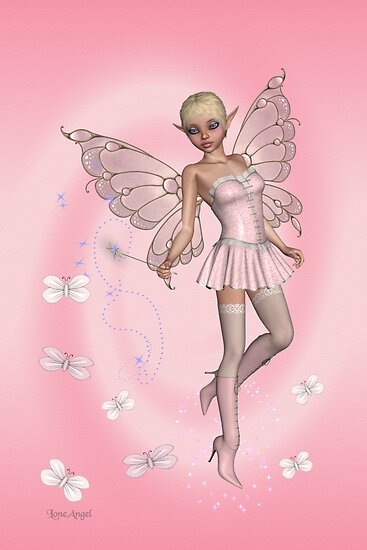 Pink Fae .. fantasy art by LoneAngel