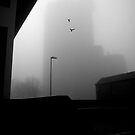 The ghost of Unity House, Hanley, Stoke-on-Trent, Staffordshire, UK.  by Steve Crompton