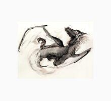 Black Watercolor Dragon Unisex T-Shirt