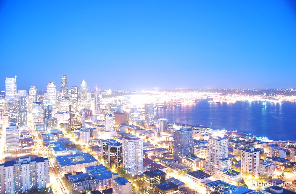 Seattle overexposed by Michael Lane