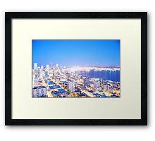 Seattle overexposed Framed Print