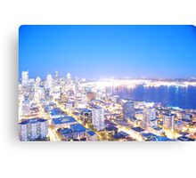 Seattle overexposed Canvas Print